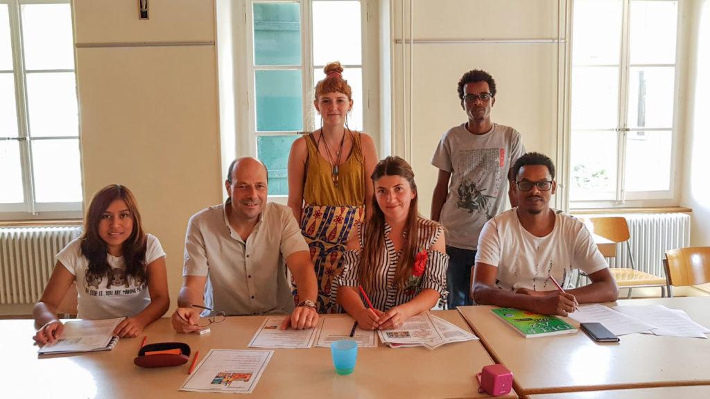 Cours de français de l'AAME à Echallens en 2018